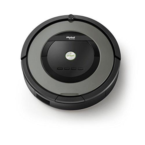 iRobot Roomba 865 Saugroboter (hohe Saugkraft und verfilzungsfreie Gummibürsten, Dirt Detect Technologie, reinigt alle Hartböden und Teppiche) grau