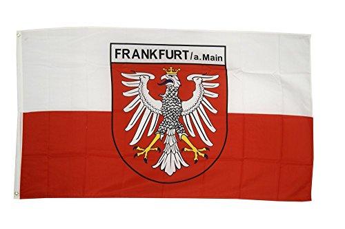 Fahne / Flagge Deutschland Stadt Frankfurt + gratis Sticker, Flaggenfritze®