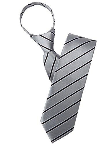 JEMYGINS Black Suspender and Silk Skinny Tie Sets for Men Slim Necktie (Black)