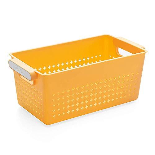 Bathroom Kitchen Plastic Storage Basket Finishing Storage Basket Bathroom Desktop Cosmetics Small Basket Kitchen Storage Box
