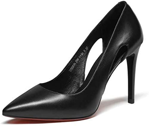 Escarpins Europe Et Amérique du Cuir des Femmes 9Cm Mode Discothèque Sauvage Sexy Bouche Peu Profonde A Souligné Chaussures à Talons Hauts
