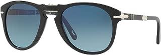Persol Mens Sunglasses Black/Blue Acetate - Polarized - 54mm
