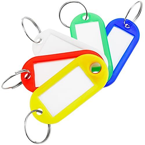 PrimeMatik - Llavero de Etiqueta identificadora Multicolor para Llaves 100 Unidades