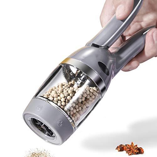 pepper mill or pepper grinder one handed pepper mill- pepper grinders refillable-adjustable grinder