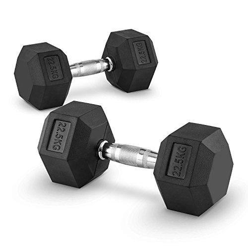Capital Sports Hexbell 22,5 Coppia Manubri da 22,5 kg