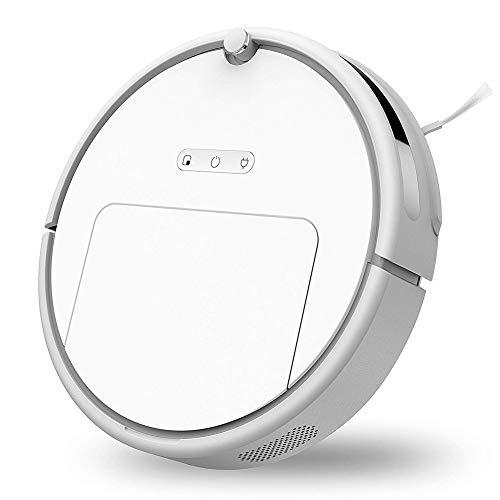 Ydq Robot Aspirador con Sensores Infrarrojos, Sensores Anticaída Y Barrera Virtual Magnética, Programable con 3 Modos De Limpieza, Batería De Litio 1800Pa
