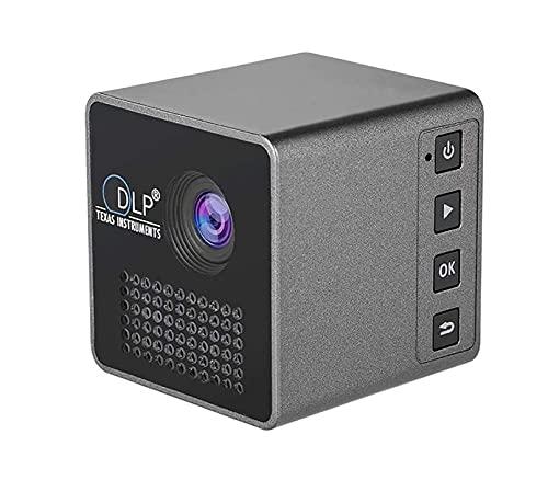 FGDFGDG Wi-Fi Mini PROYECTOR DE Teatro Inicio 15 Lumen LCD Proyector de Bolsillo portátil Portátil TF INPUTROS DE LA Tarjeta 1080P HD Proyector de proyector de Alta Cabeza 2021
