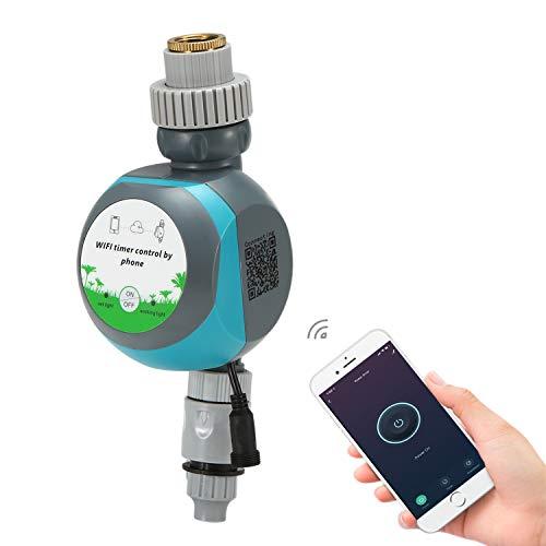 Tickas Controlador de Temporizador de Agua de riego WiFi Inteligente Teléfono móvil Acceso Remoto Jardín inalámbrico Temporizador de riego automático programable electrónico Impermeable