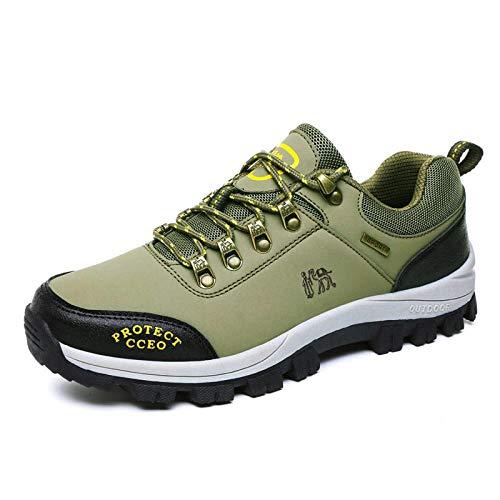 Herren Damen Sportschuhe,Calzado de Running para Hombre,Hombre al Aire Libre Casual Antideslizante Desgaste Alpinismo Zapatillas-D ejército Green_37#