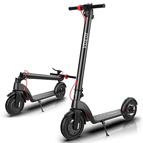 Electric Scooter, with Detachable Battery, Powerful 400W Motor & Max Speed 19 MPH, 9-inch Dual Density Tires, Folding Electric Scooter for Adults