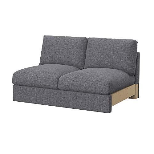 Soferia Funda de Repuesto para IKEA VIMLE módulos sofá de 2 plazas, Tela Naturel Grey, Gris