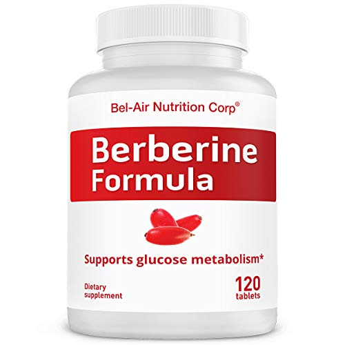 Bel-Air Berberine Formula: 1200 mg with Herbal Booster. Best Natural Berberine Supplement for Glucose (120 Tablets)