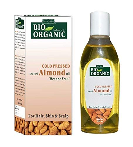 Indus Valley Remedies Pure, Natural ColdPressed Sweet Almond Oil for Hair & Skin (No Mineral Oil & Sulphate) 200ml