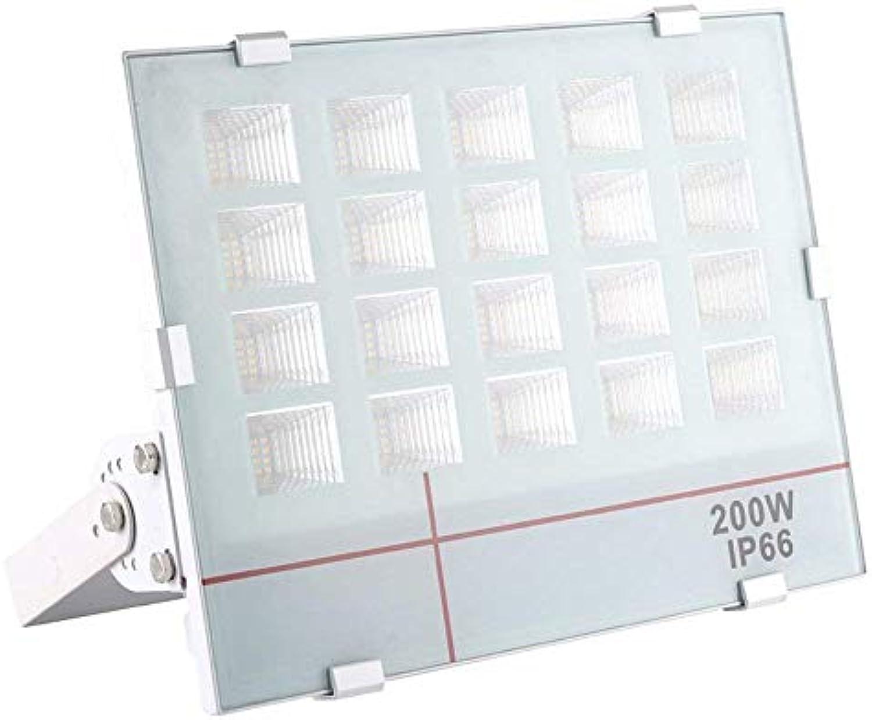 200W Ultraslim LED Fluter Kaltwei - Strahler Auen Scheinwerfer Aluminium - Flutlicht IP66 Wasserdicht (200W Kaltwei)