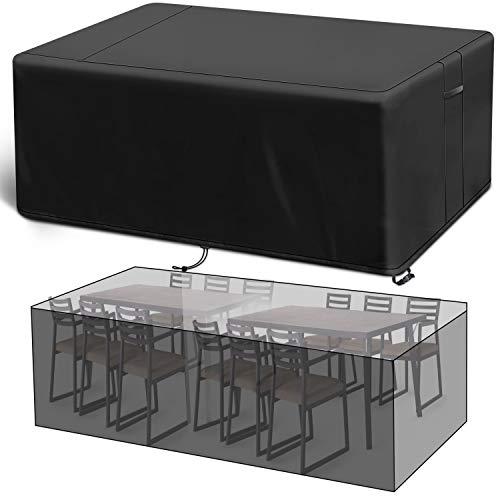Viewee Funda para Muebles de Jardín, 200x160x70cm, 420D Tela Oxford Revestimiento de PU, Cubierta de Exterior Funda Protectorar Impermeable, Anti-UV a Prueba de Viento, Lluvia y Nieve