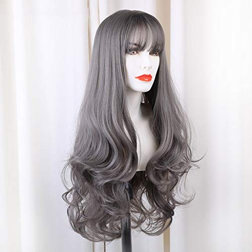 Wig Brown Wavy Long Curly Synthetic Wig Cosplay...