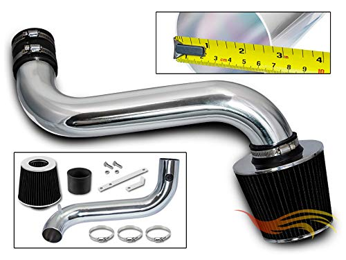 Rtunes Racing Short Ram Air Intake Kit + Filter Combo BLACK Compatible For 92-95 Chevy S10 3.4L / 92-95 Chevy Blazer 4.3L (Vortec CPI Engine only)