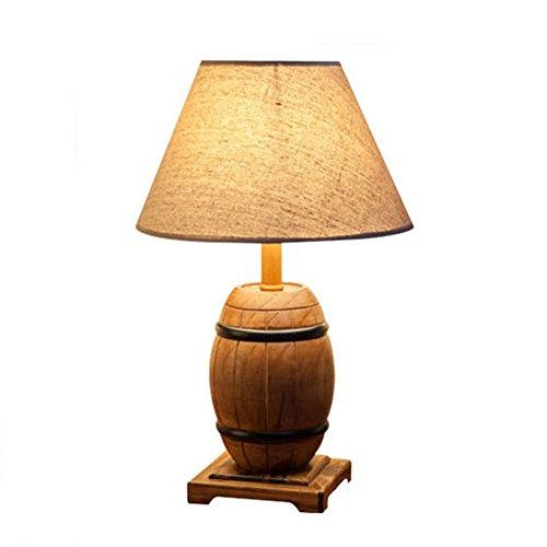 DGEG Lámpara de Mesa de Barril de Cerveza de Madera Barriles de América Hacer Las lámparas de luz estroboscópica de Madera Vieja para el Dormitorio/cabecera