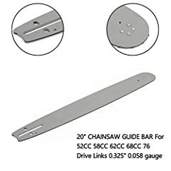 """Condition: 100% Brand New Type: Chainsaw Guide Bar Replacement Guide Bar: 20"""" For Chinese Chainsaw 5200, 5800, Tarus, Silverline, Timbertech and many others You wil receive in chainsaw guide bar after ordering."""