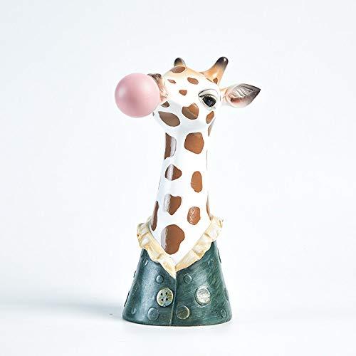 DIAOSUJIA Nordic creatieve schattige dierenkunst vaas giraffe vlezige bloempot hars handwerk huis decoratie