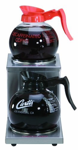 Wilbur Curtis Decanter Warmer 2 Station Warmer, Step Up - Hot Plate to Keep Coffee Hot and Delicious  - AW-2S-10 (Each)