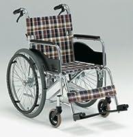 【車椅子/自走用】 アルミ製/AR-201B 背折れ式・ブレーキ付 (シート幅40㎝, S-2)