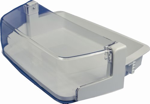 LG Electronics AAP73351301 Refrigerator Door Shelf/Bin. White with Clear Trim