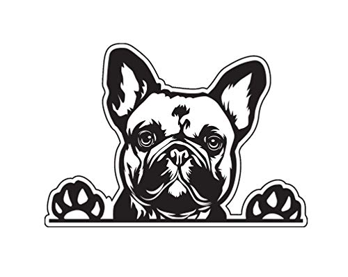 WickedGoodz French Bulldog Decal - Dog Paws Breed Bumper Sticker - for Laptops Tumblers Windows Cars Trucks Walls - Black and White