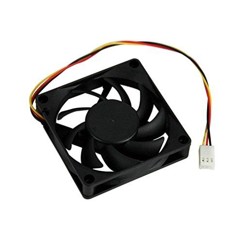 hunpta Ventilador silencioso de 7 cm/70 mm/70 x 70 x 15 mm, 12 V, color negro