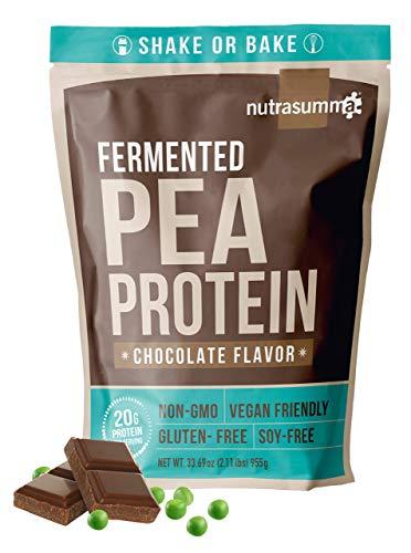2.11 LB 100% Pea Protein Powder Fermented Chocolate -North American Sourced Peas - Plant Protein Powder (Non-GMO, Gluten Free, Vegan Friendly)
