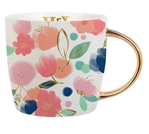 Creative Brands Slant Collections 14-Ounce Coffee Mug, Hey Mama
