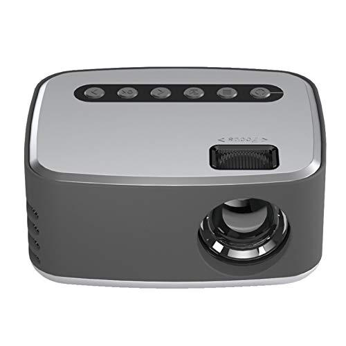 Mini proyector Full HD, Proyector de películas Proyector de Cine en casa, Proyector de Video portátil Mini Proyector de Cine en casa HD con luz LED(EU)