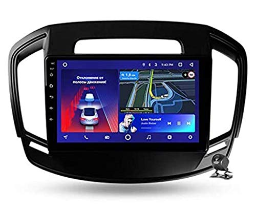 YIJIAREN Navigazione GPS Autoradio per Opel Insignia 1 2013-2017, Android 10.0 Autoradio Stereo Supporta GPS/Radio/Bluetooth/Navigazione/Controllo del Volante/RDS/DSP/FM
