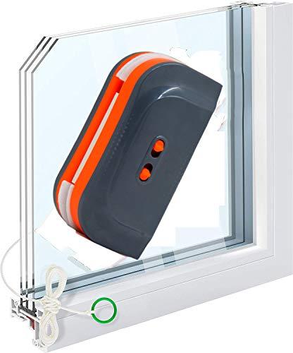 W&P Limpiacristales Magnético de Ventanas,de Doble Acristalamiento Cuadrado Limpiador de Vidrio de Dos Lados,Adecuado para Vidrio de 3-28 mm