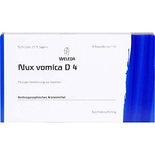 WELEDA Nux vomica D4 - Disolvente líquido, 8 ampollas