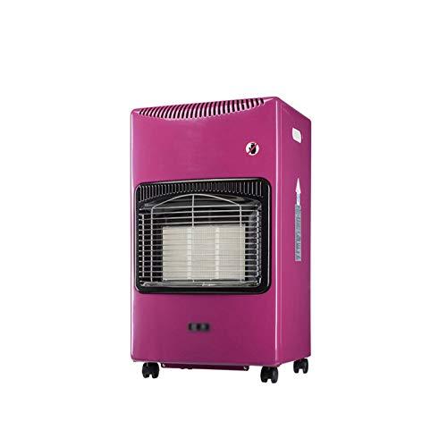 xinxinchaoshi Calefactor Portátil Terraza Calentador Licuado Petróleo Gas Portátil Portátil Estufa de asado de Interior Ventilador Calefactor