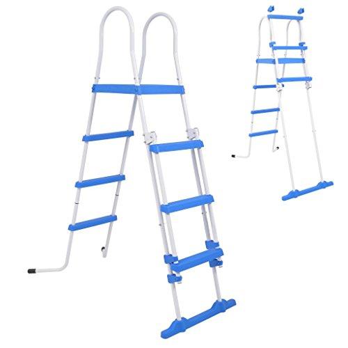 Benkeg Escalera de Seguridad de Piscina elevada 3 peldaños 122 cm