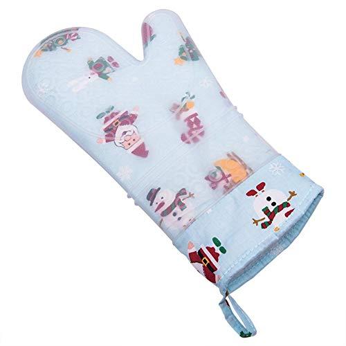 Isolierte Handschuhe Haushalt Küchenofen rutschfeste Baumwollhandschuhe Backen Hochtemperatur-Verbrühschutzhandschuhe Kochen Backen Notwendiges Werkzeug Hitzebeständige Isolierte Handschuhe