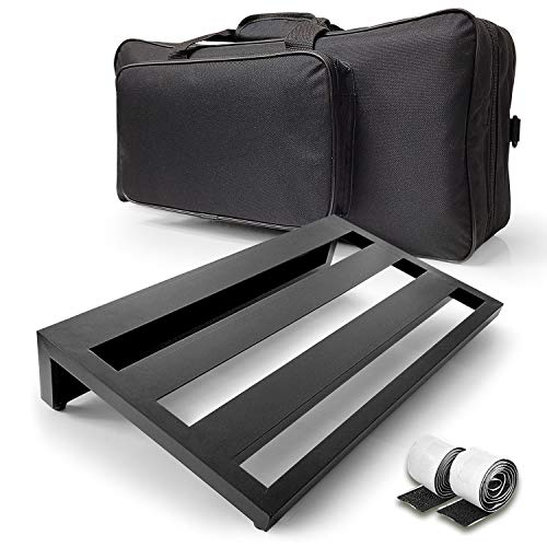 AxcessAbles Guitar Pedal Board 20' x 12' Lightweight Aluminum Alloy Pedalboard with Carry Bag