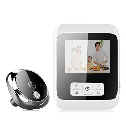 Sbeautli Cámara Espectador de la Puerta inalámbrico 170 ° Digital Inteligente TFT LCD HD de 2.0MP Seguridad for el Hogar de visión Nocturna Fácil Instalación (Color : Silver)