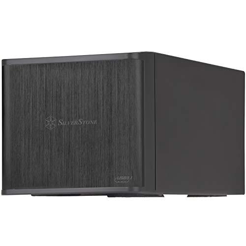 SilverStone Technology 2 Bay external 3.5  Hard Drive Enclosure RAID   JBOD Storage Tower - USB3.1 & USB Type-C Interfaces (TS231U-C)