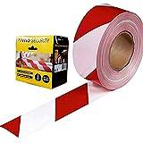 VITO Professional 200m Rot/weißes Flatterband im KARTON Absperrband Warnband Sperrband Rolle (200m)
