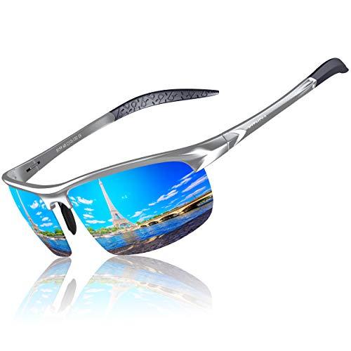 KITHDIA Gafas de sol deportivas polarizadas para hombre con ultraligero y marco de metal irrompible S8199