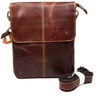 Men's Bags Crossbody Bags - Men Business Casual Genuine Real Leather Retro Shoulder Crossbody Bag - Red