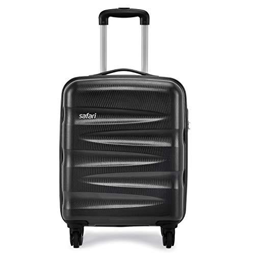 Safari Wedge 55 Cms Polycarbonate Black Cabin 4 wheels  Hard Suitcase