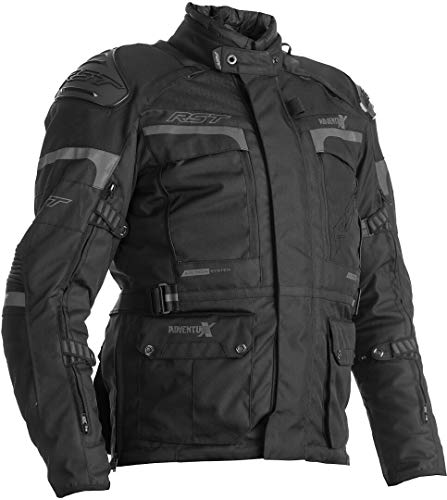 RST Chaqueta de moto textil negra para hombre Pro Series Adventure-X CE EU58