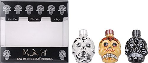 Kah Tequila Miniset mit Geschenkverpackung (3 x 0.05 l)