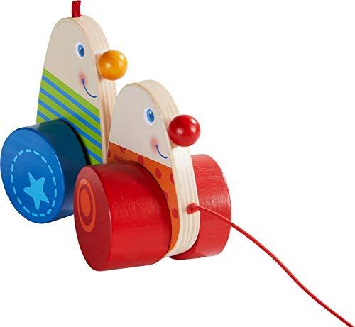 HABA 304318 - Ziehfigur Wackelkerle, Nachziehspielzeug mit Wackeleffekt, animiert Kinder ab 12 Monaten zum Laufenlernen, perfekt als Geschenk zum ersten Geburstag