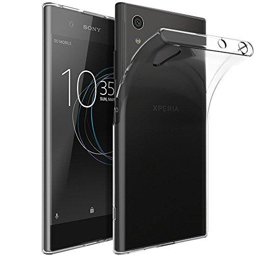 REY Funda Carcasa Gel Transparente para Sony Xperia XA1 Plus, Ultra Fina 0,33mm, Silicona TPU de...