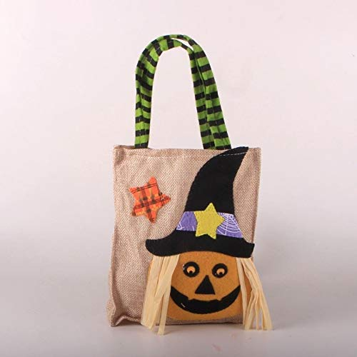 BQYQFXX Halloween Candy Pocket Hecho a Mano Ghost Festival Party Makeup Road Festival Dress Up Accesorios Bolsa (Size : A)
